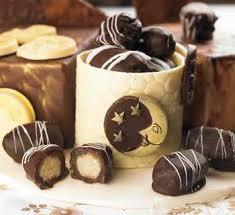 شکلات خرمایی مغزدار